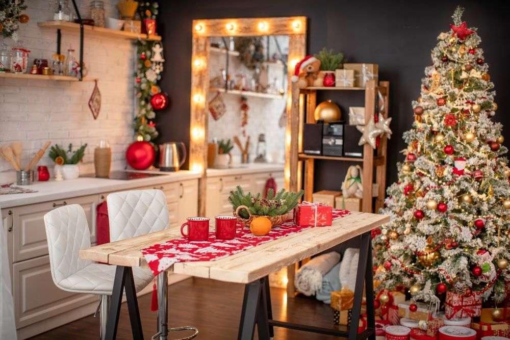Decorare cucina per le feste natalizie
