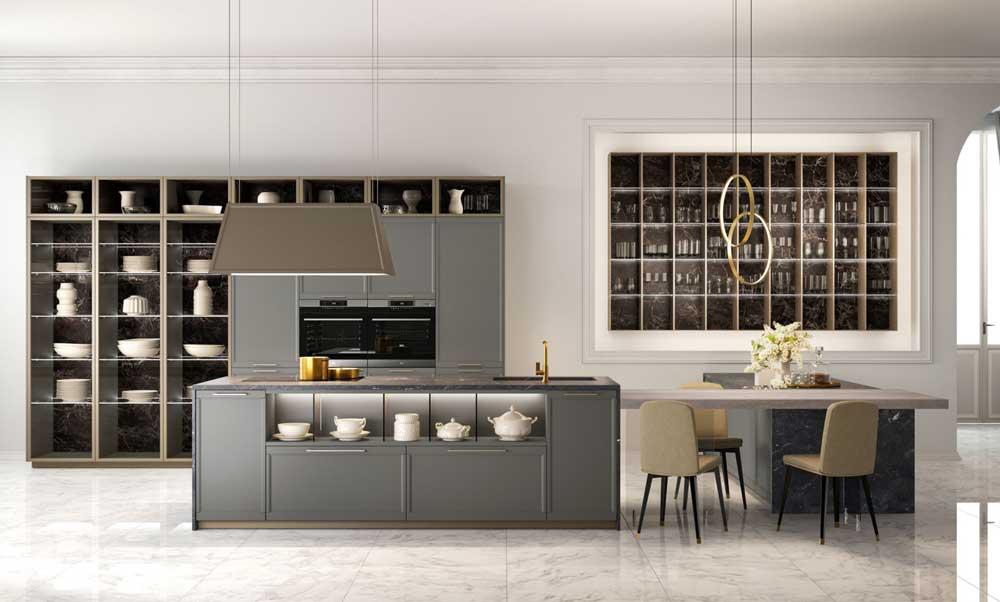 Cucina con isola: Lube-Firenze_Modello-cucina-Flavour